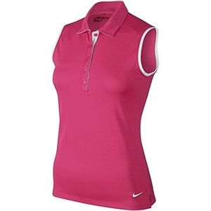 Nike Golf Victory Colorblock Polo Shirt Top Pink